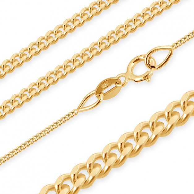 Złoty Łańcuszek z Krzyżykiem 333 GRAWER ZZ153