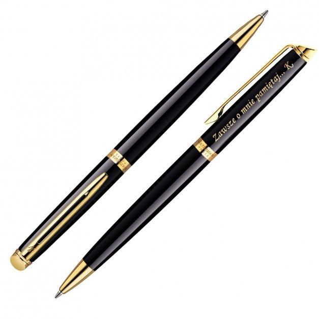 Zestaw Długopis Etui WATERMAN Hemisphere Czarny GT