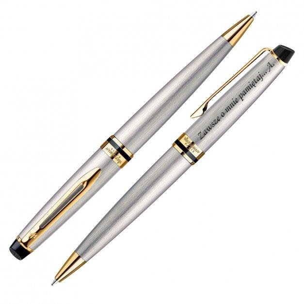 Zestaw Długopis Etui WATERMAN Expert Stalowy GT