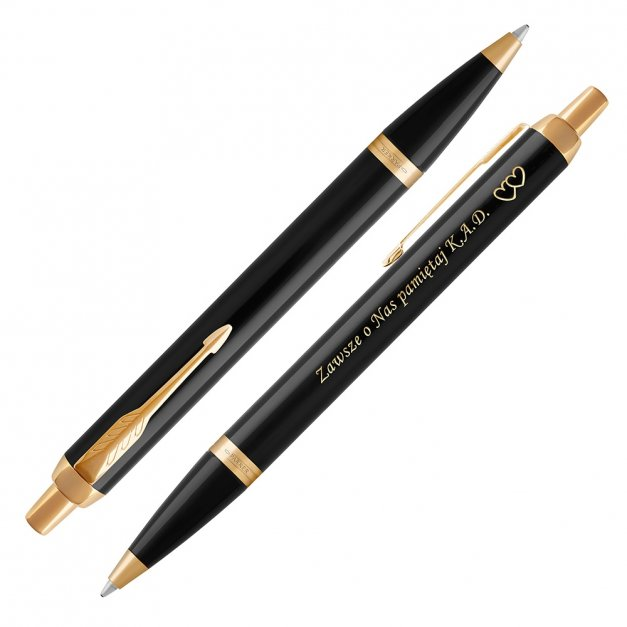 Długopis Parker IM Czarny GT GRAWER i ETUI PRESTIGE