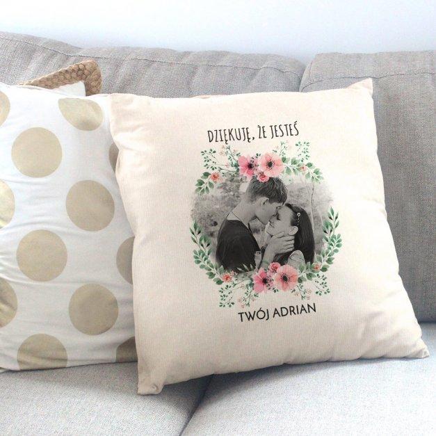 Poduszka personalizowana z nadrukiem DZIĘKUJĘ