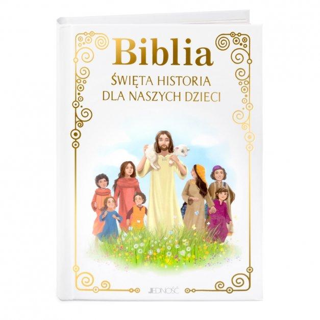 Biblia Dla Dzieci Prezent na Komunię GRAWER