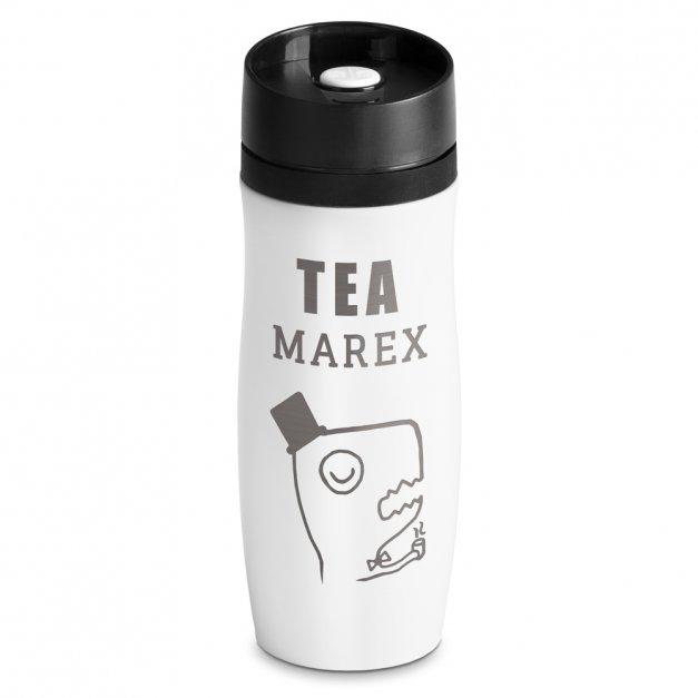 Kubek Termiczny Termos Tea-Rex Biały GRAWER