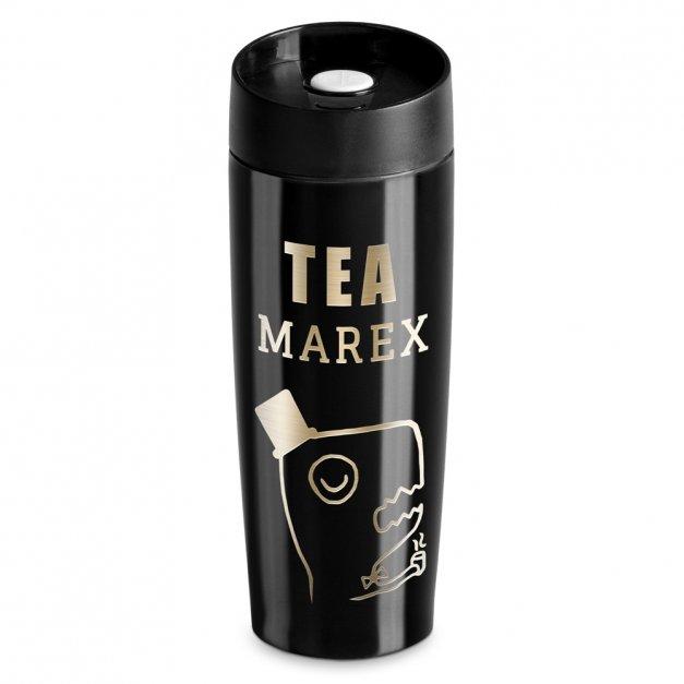 Kubek Termiczny Termos Tea-Rex Czarny GRAWER