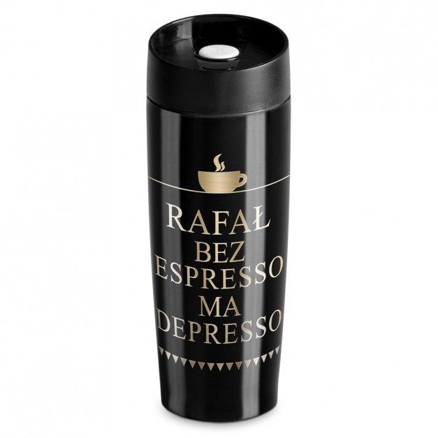 Kubek Termiczny Termos Czarny Espresso GRAWER