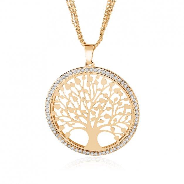 Naszyjnik Medalion Drzewo