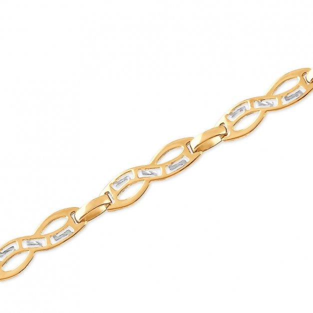 Złota Bransoletka 585 Nieskończoność GRAWER