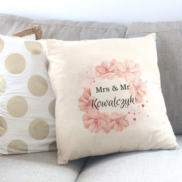 Poduszka personalizowana z nadrukiem PAN I PANI