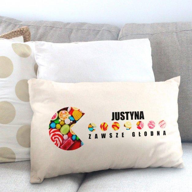 Poduszka personalizowana z nadrukiem PACMAN