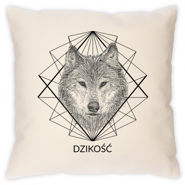 Poduszka personalizowana z nadrukiem WILK