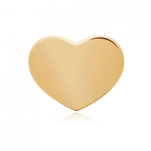 Złote Kolczyki 333 Serca Celebrytki Grawer