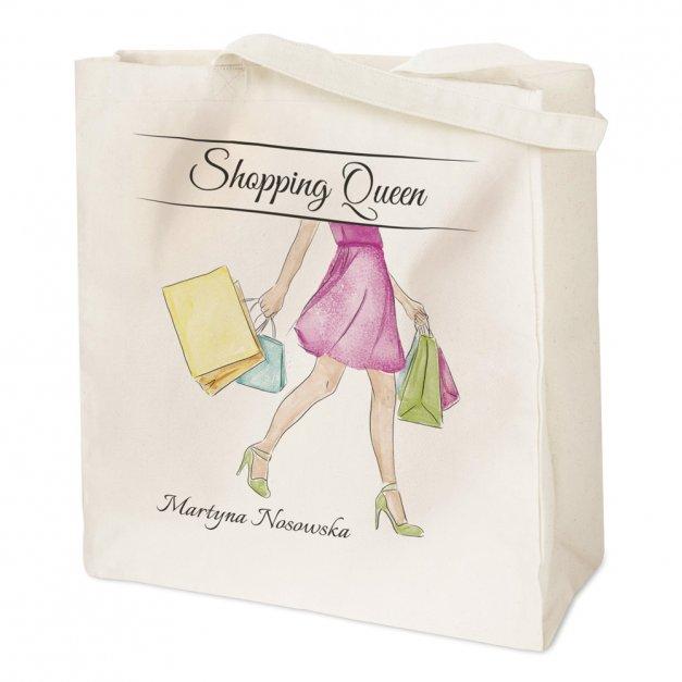 Bawełniana Eko Torba z Twoim Nadrukiem Shopping Queen