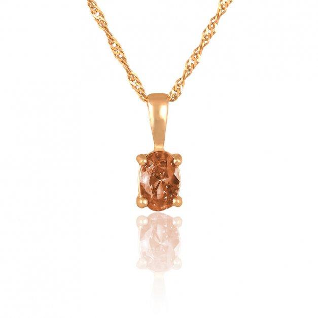 Złoty Komplet 585 Łańcuszek z Zawieszką Kolczyki Grawer