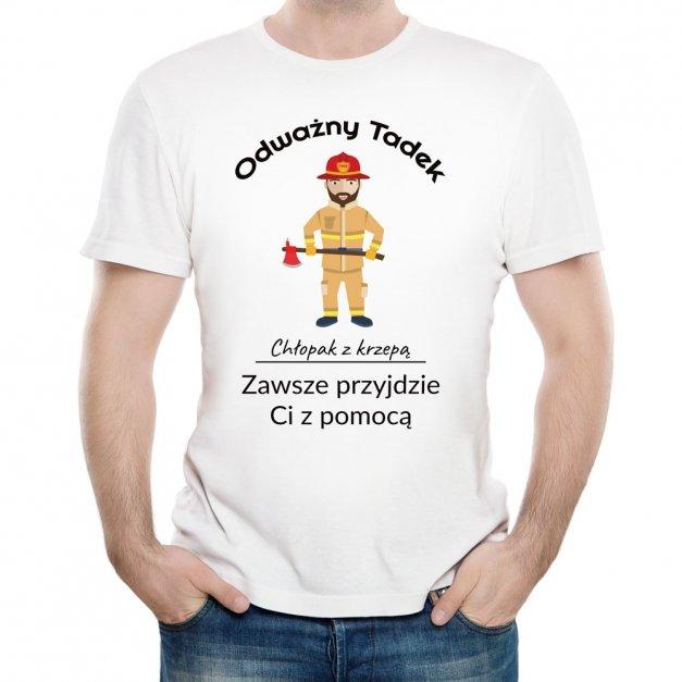 Koszulka Męska z Twoim Nadrukiem ODWAŻNY