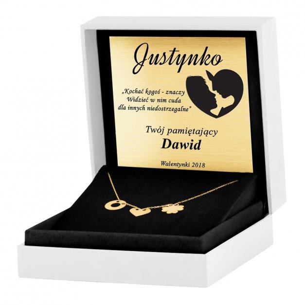 Złoty Naszyjnik Celebrytka 585 Sensual Trio Grawer