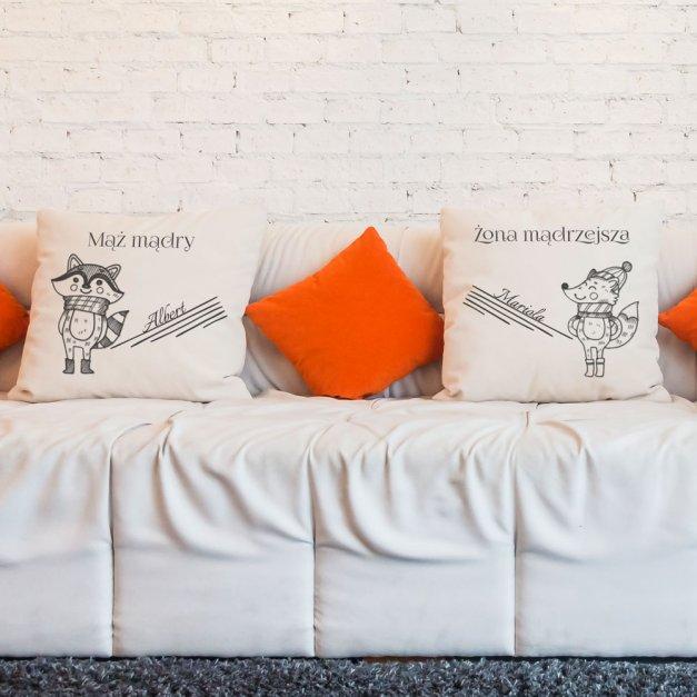 Zestaw poduszek personalizowanych z nadrukiem LISKI