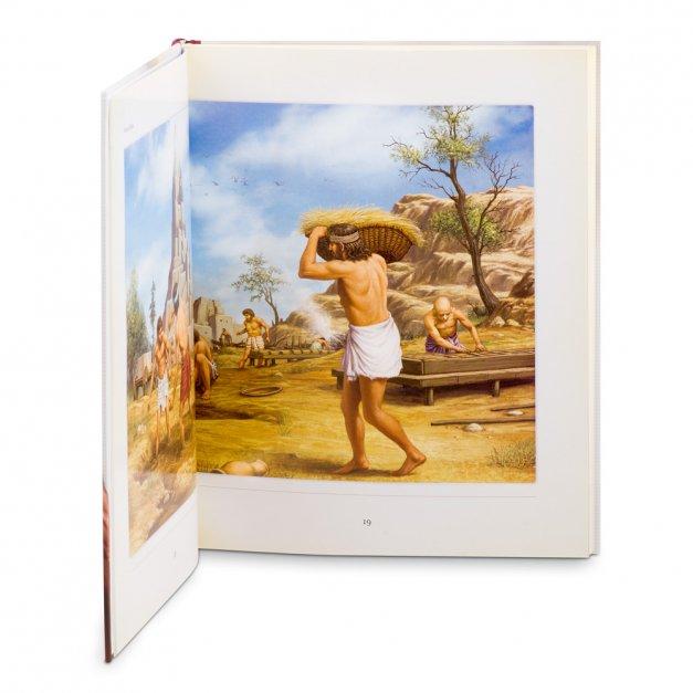 BIBLIA Dla Dzieci Ilustrowane Historie z Grawerowaną Tabliczką na Chrzest